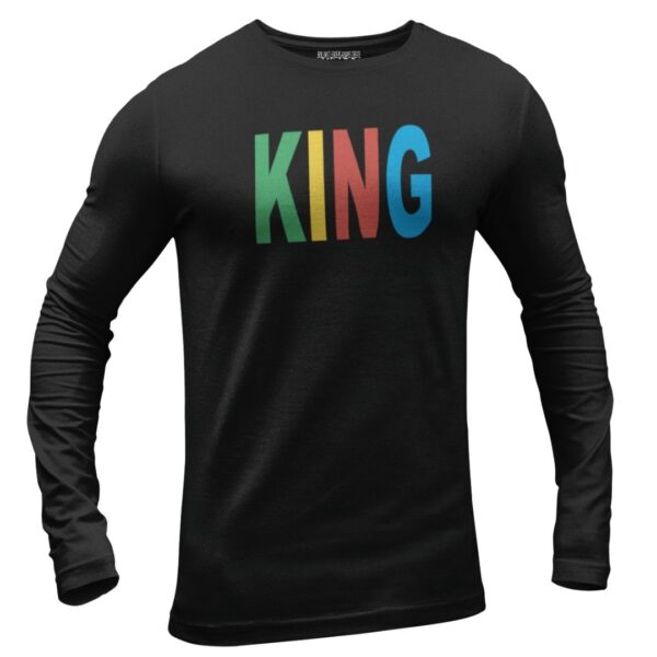 King long sleeve black shirt